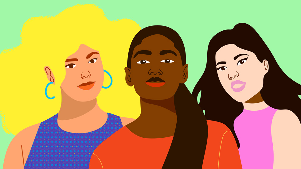 """""""She Creates"""" illustration by artist Artist Aurélia Durand for Today at Apple."""