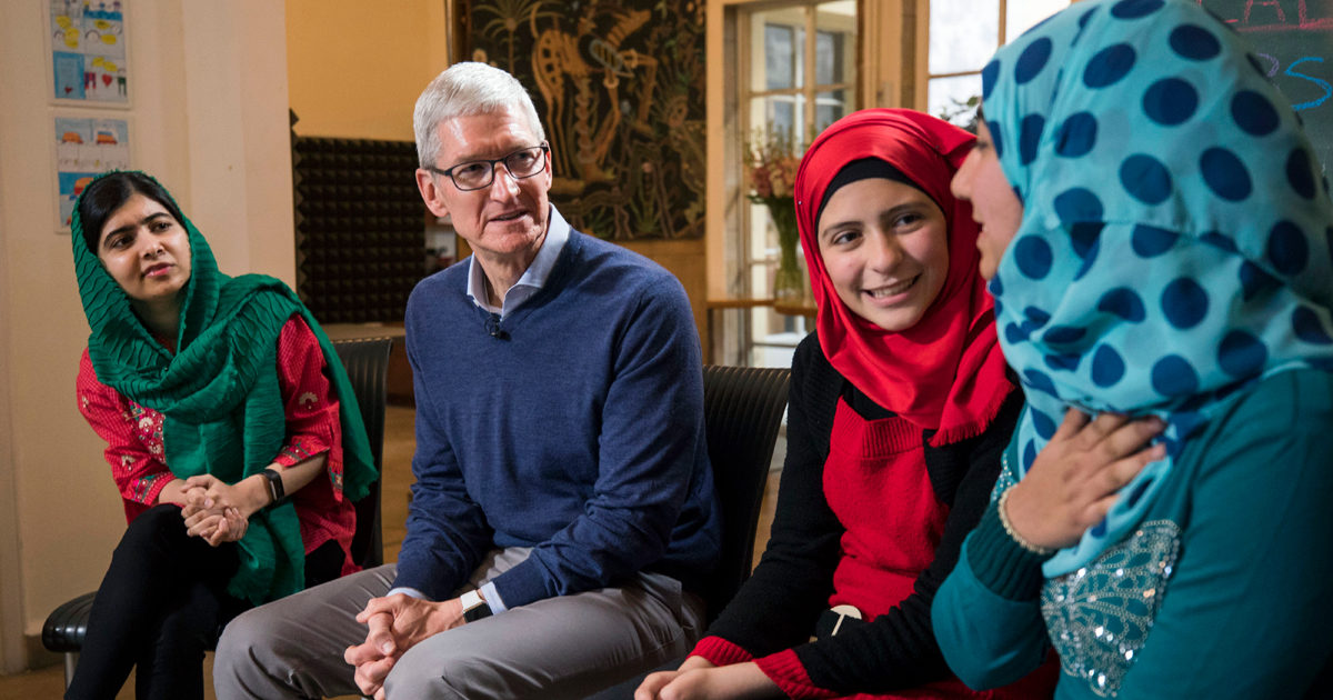 Apple teams with Malala Fund to support girls' education - Apple