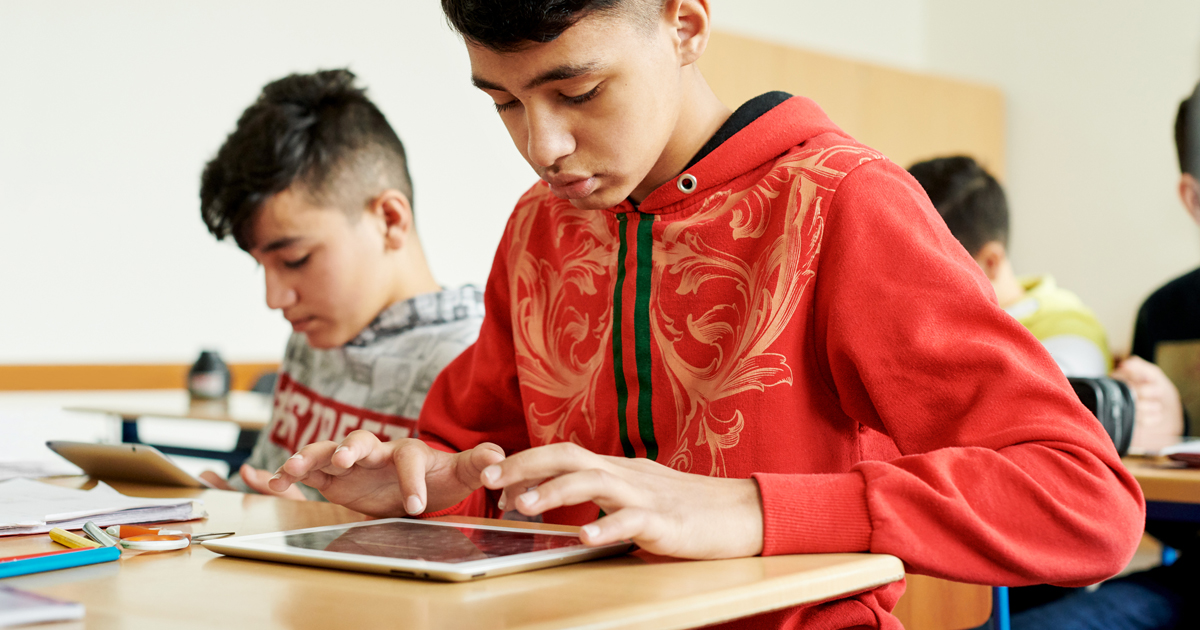 photo of When words aren't enough, teachers find a common language with iPad image