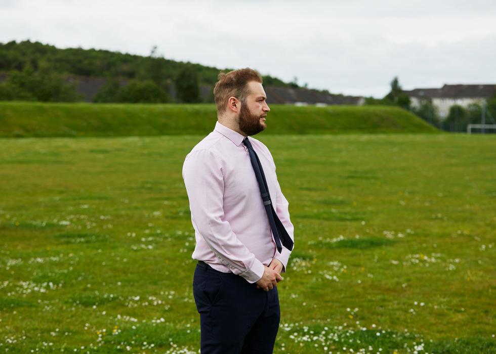 Castlemilk High School-Lehrer Scott Anderson.