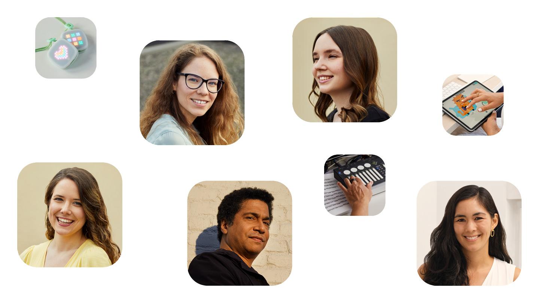 Beatrice Ionascu, Mitgründerin von imagiLabs, Paula Dozsa, Mitgründerin von imagiLabs, Samantha John, Gründerin von Hopscotch, Matt Garrison, Mitgründer von ShapeShifter Labs, Dora Palfi, Mitgründerin von imagiLabs