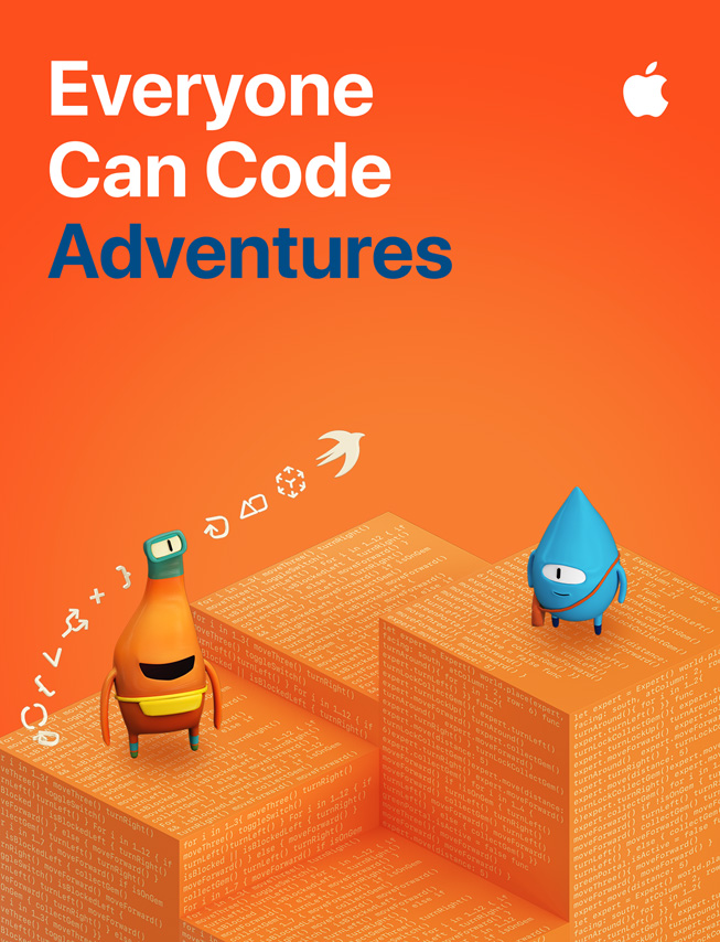 《Everyone Can Code Adventures》學生指南的圖片。