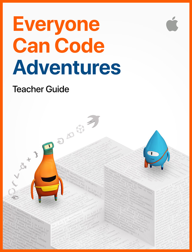 《Everyone Can Code Adventures》教師指南的圖片。