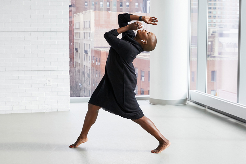 Hope Boykin wears her AirPods while dancing at The Ailey School.