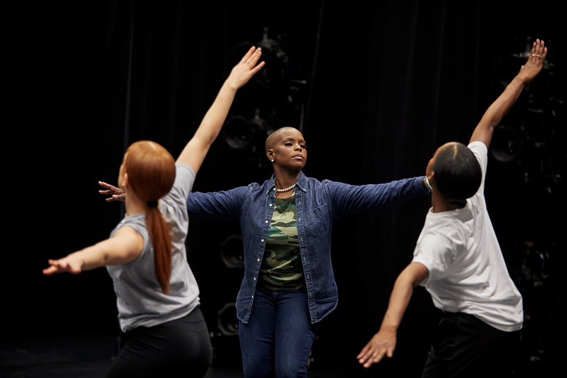Hope Boykin teaching students at The Ailey School.
