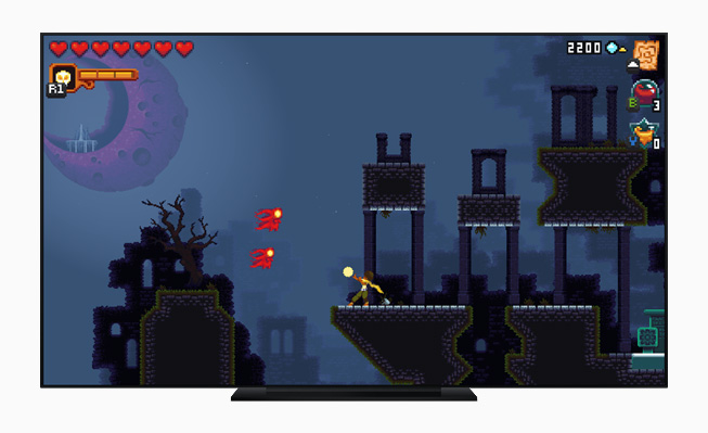 """Dandara Trials of Fear"" gameplay in the Apple TV app."