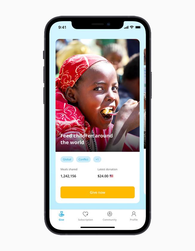 ShareTheMeal app.
