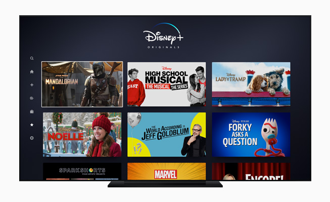 Disney+ in the Apple TV app.
