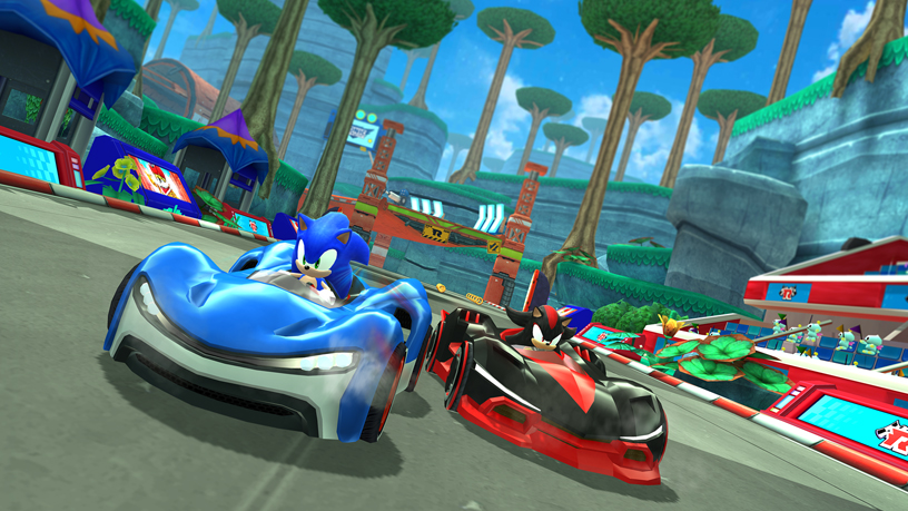 A still from SEGA's Sonic Racing game for Apple Arcade.