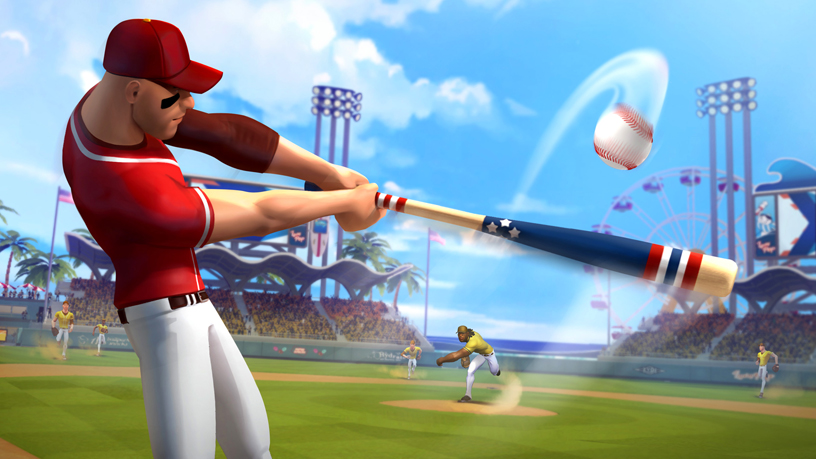 "Gameloft's ""Ballistic Baseball"" on Apple Arcade."