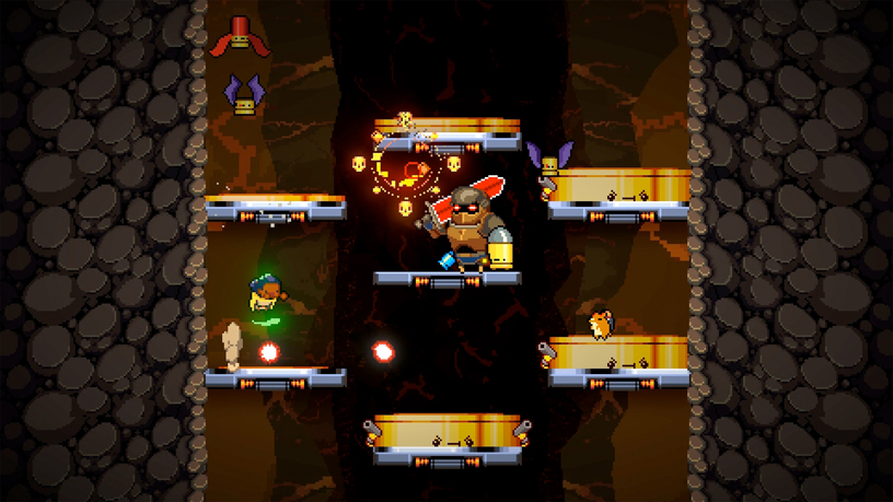DevolverによるApple Arcadeの「Exit the Gungeon」。