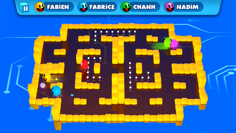 Bandai Namco《PAC-MAN PARTY ROYALE》的螢幕快照。