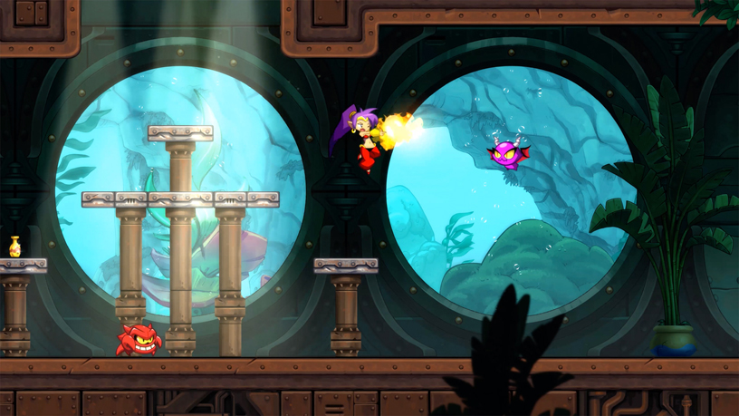 "Screenshot of WayFoward's ""Shantae and the Seven Sirens"" on Apple Arcade."