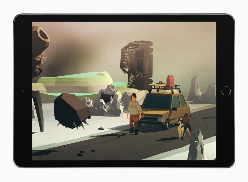 "Gameplay di ""Overland"" su iPad."
