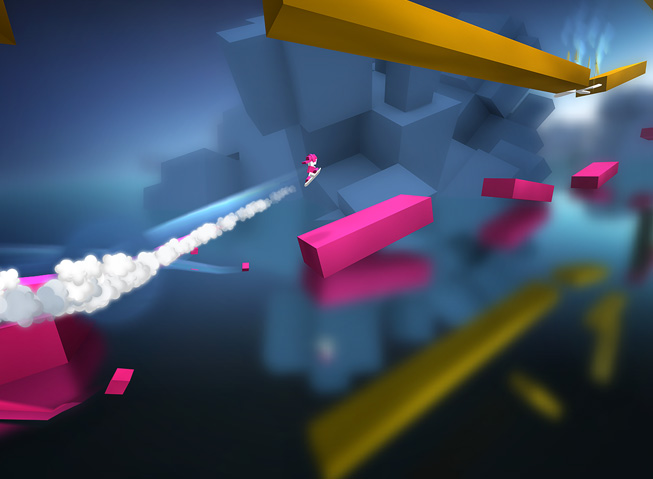 "A still from the game ""Chameleon Run."""