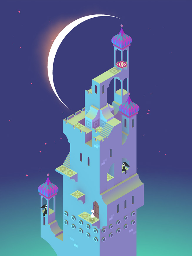 """A still from the game """"Monument Valley."""""""