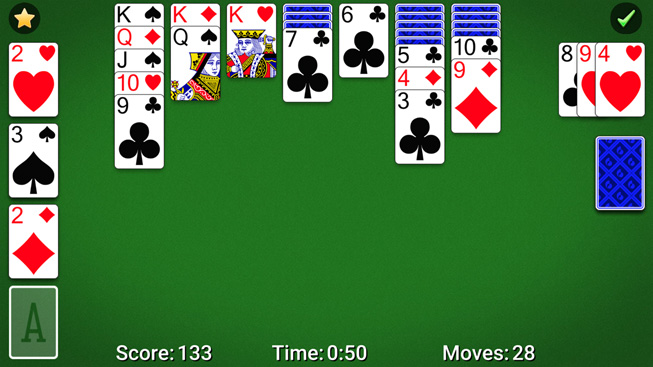 "A still from the game ""Solitaire by MobilityWare."""