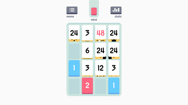"A still from the game ""Threes!"""