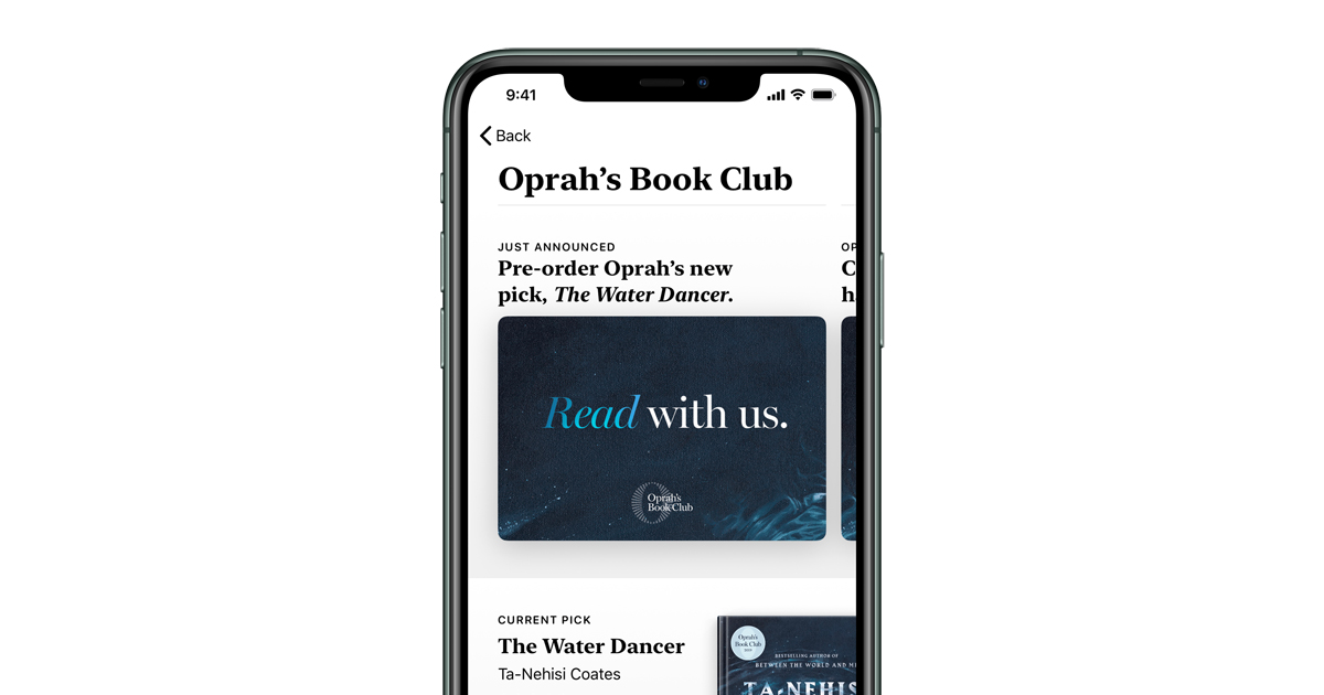 photo of Oprah's Book Club starts a new chapter with Apple image