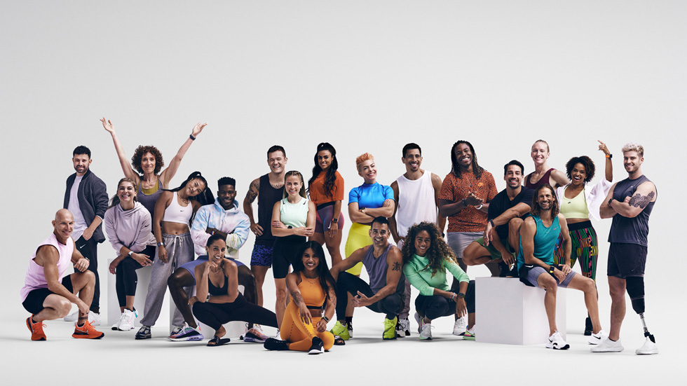 The full Apple Fitness+ trainer team.