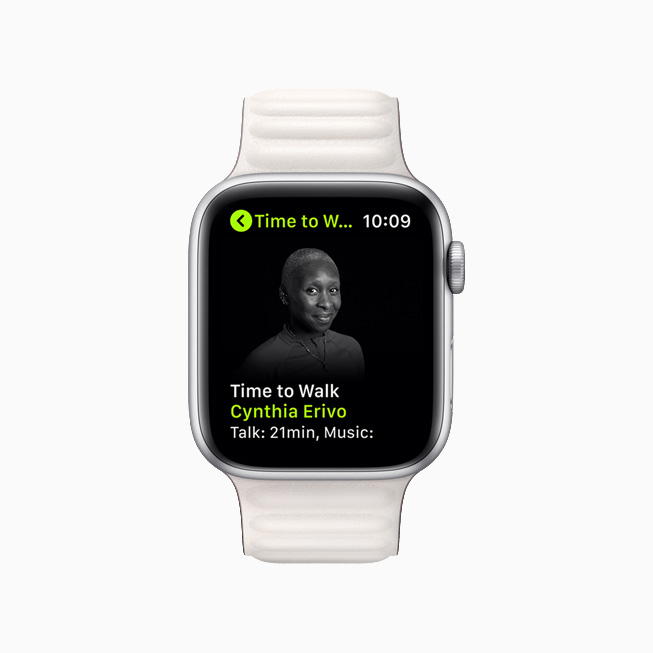 Cynthia Erivo on a new Time to Walk episode on Apple Watch Series 6.