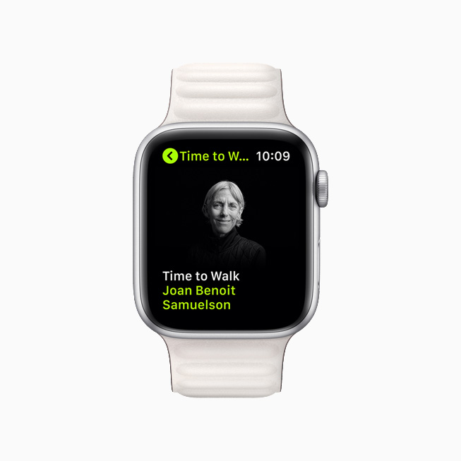 Joan Benoit Samuelson on a new Time to Walk episode on Apple Watch Series 6.