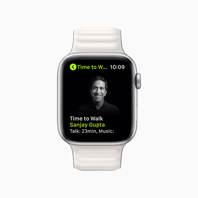 Dr. Sanjay Gupta on a new Time to Walk episode on Apple Watch Series 6.