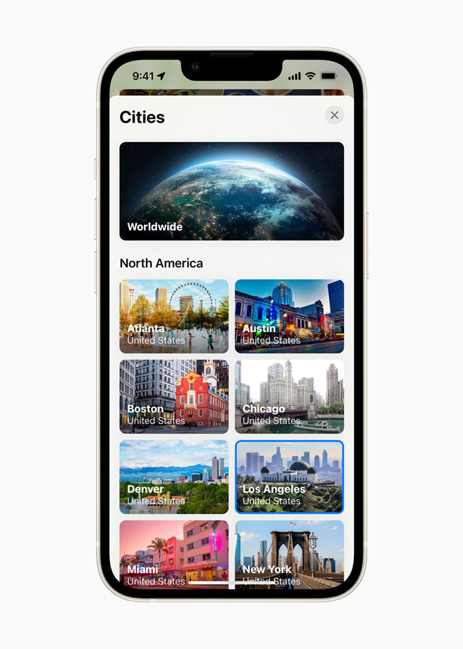 iPhone shows North American City Guides in Apple Maps in iOS 15.