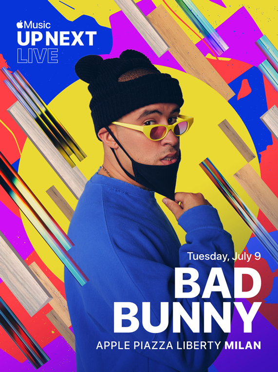 Apple Music Up Next Live featuring Bad Bunny at Apple Piazza Liberty.