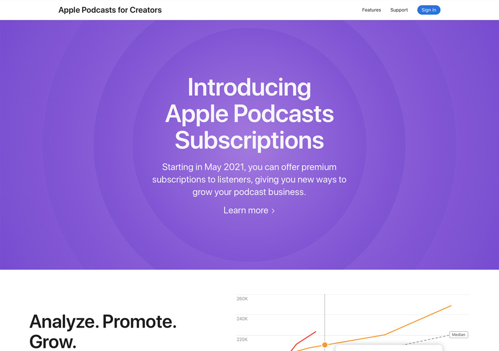 Introduction page on Apple Podcasts for Creators website.