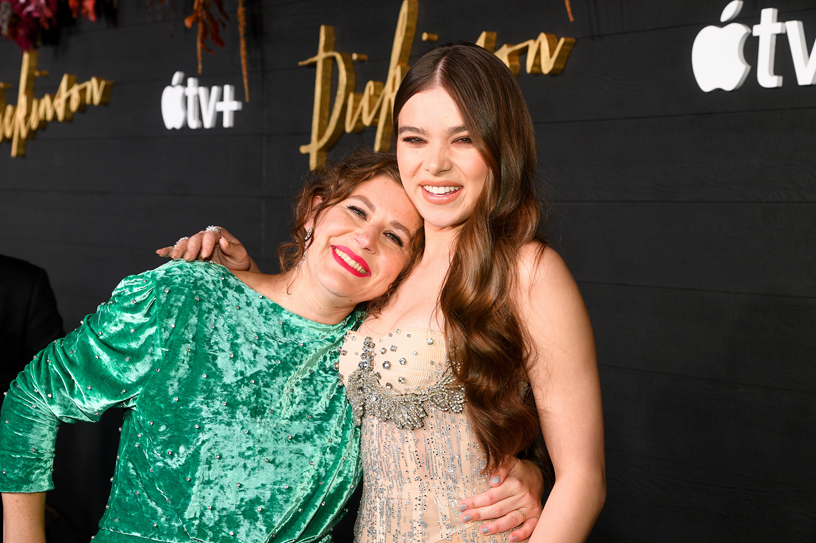 "Alena Smith and Hailee Steinfeld at the global premiere of ""Dickinson."""