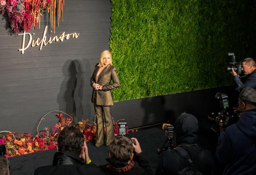 "Jane Krakowski at the global premiere of ""Dickinson."""