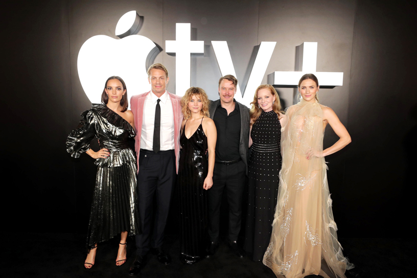 "Jodi Balfour, Joel Kinnaman, Sarah Jones, Michael Dorman, Wrenn Schmidt and Shantel VanSanten at the premiere of ""For All Mankind."""