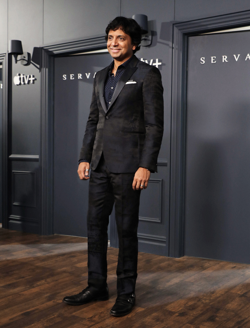 "M. Night Shyamalan at the global premiere of ""Servant."""