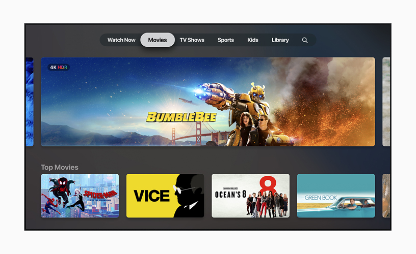 "Der ""Showtime"" Homescreen in der Apple TV App."