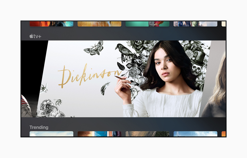 "Un televisore che mostra ""Dickinson"" su Apple TV."