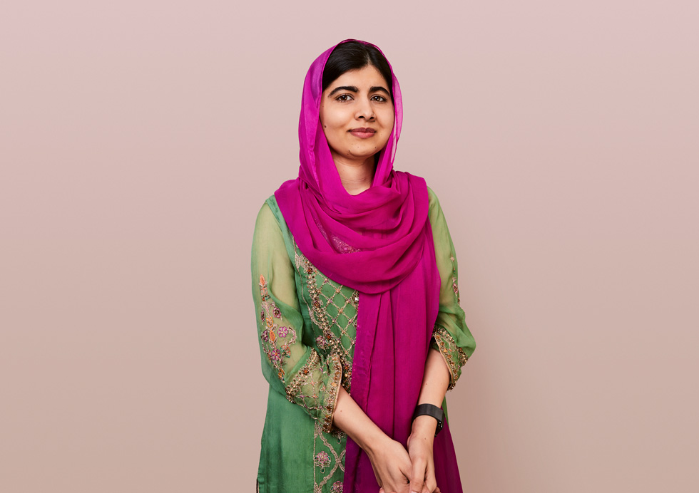 Women's rights activist and Nobel laureate Malala Yosafzai.