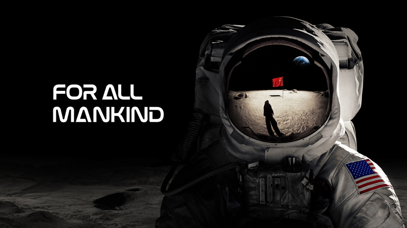 "Schermata con il titolo di ""For All Mankind"" su Apple TV+."