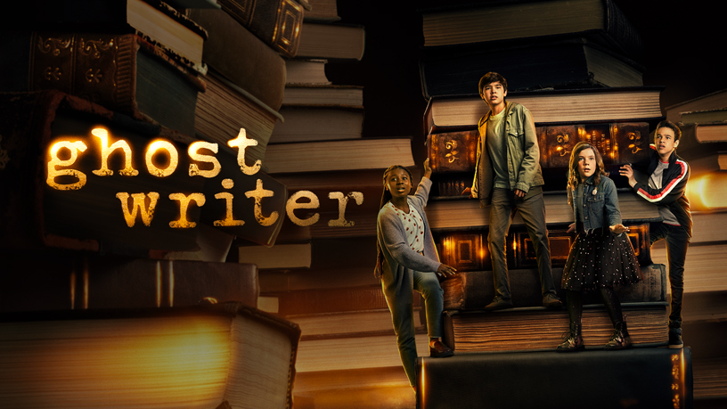 "Schermata con il titolo ""Ghostwriter"" su Apple TV+."