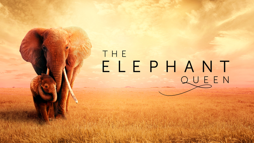 Tittelskjermbildet til «The Elephant Queen» på Apple TV+.