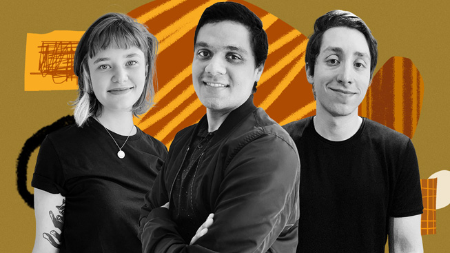 Mariana Lech, Ailton Vieira og Rodolfo Diniz, skaberne af Hubli.