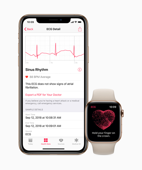Health app on iPhone and Apple Watch.