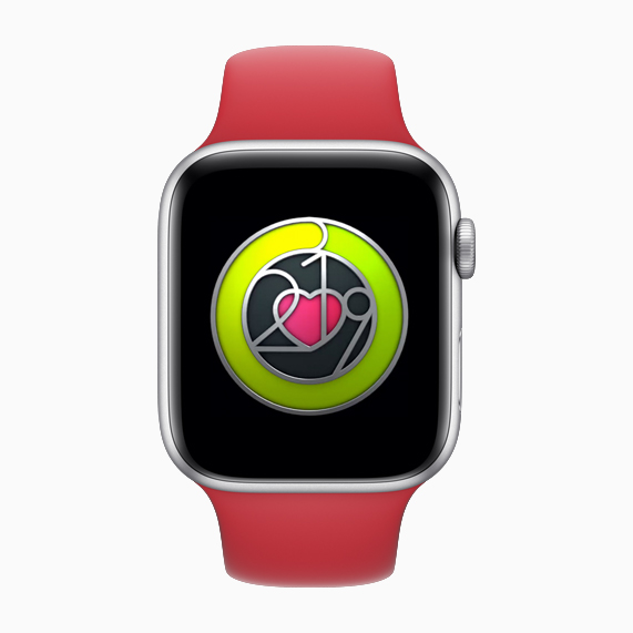 Apple Watch showing badge on screen.