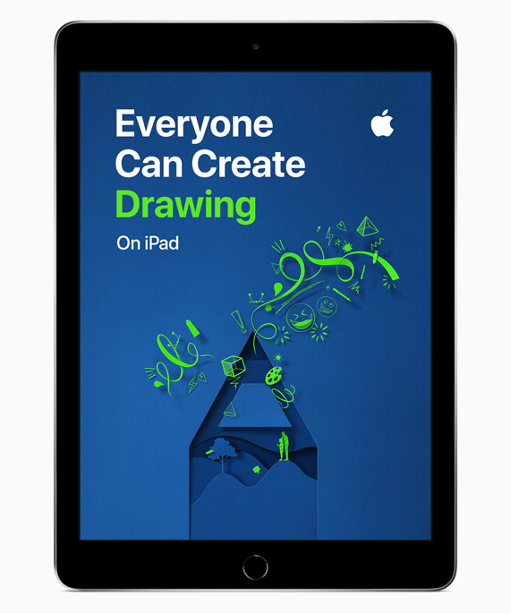 iPad showing Everyone Can Create Drawing screen.