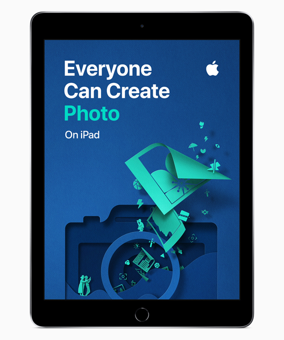 iPad showing Everyone Can Create Photo screen.