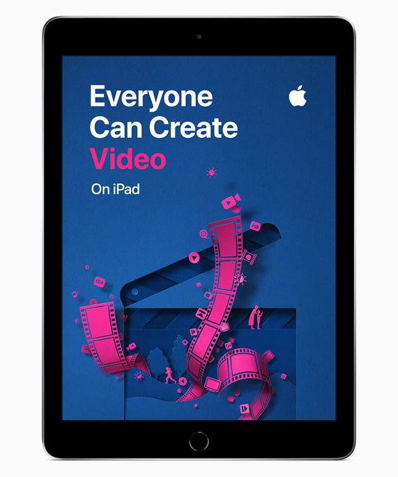 iPad showing Everyone Can Create Video screen.