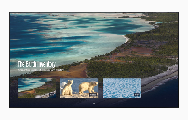 The Explorers app on Apple TV.