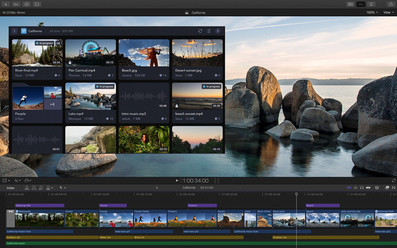 Screenshot of Final Cut Pro X.