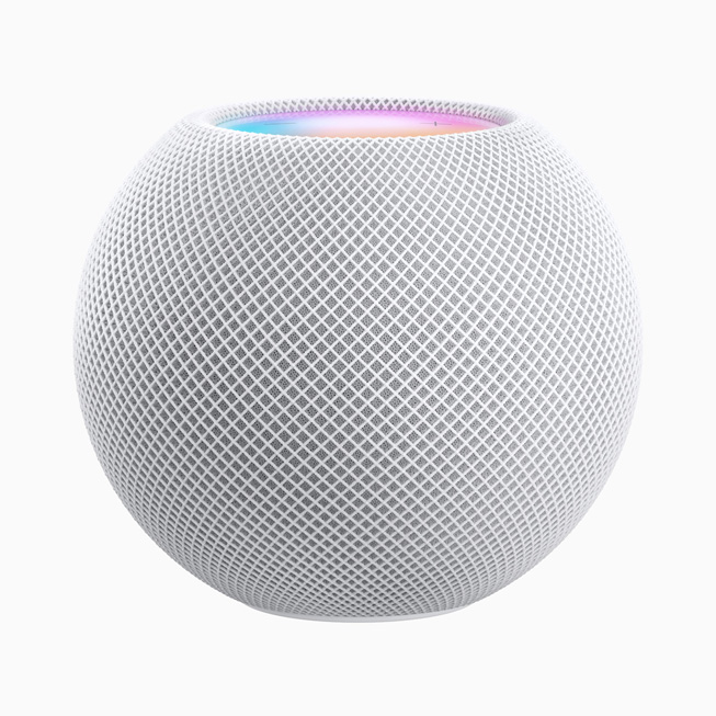 HomePod mini en blanc.