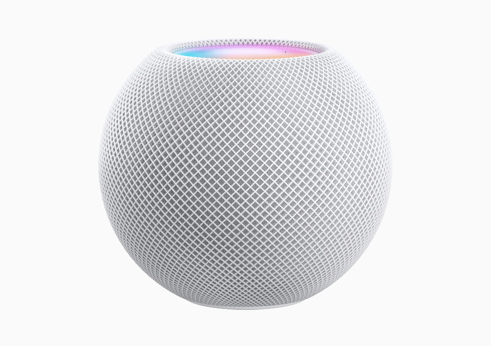 HomePod mini in white.